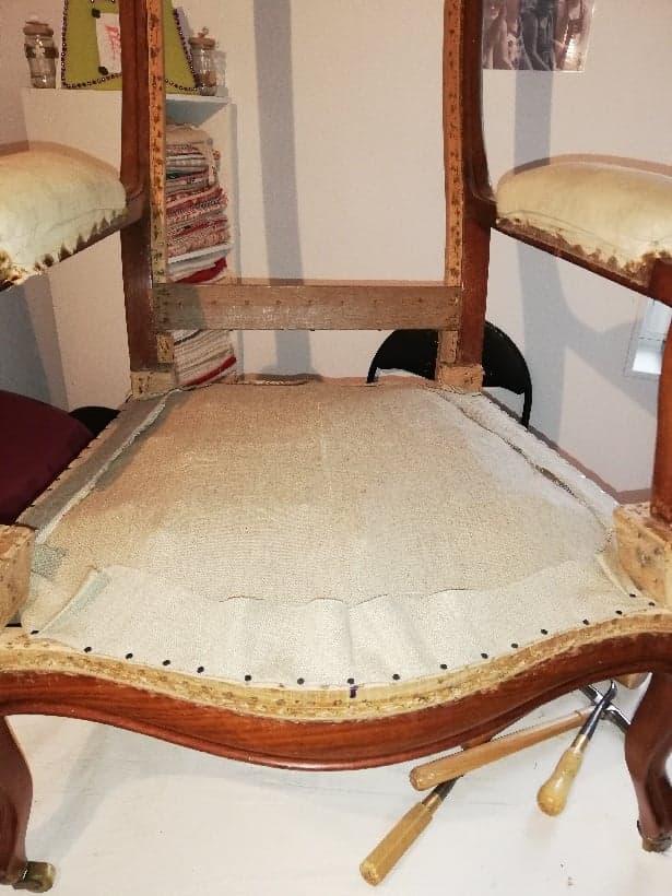 rénovation fauteuil voltaire